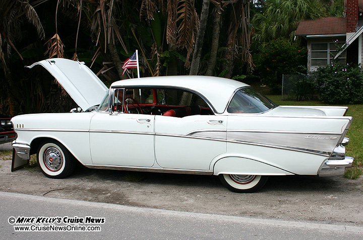Bayfest car show on anna maria island 2007 for 1957 chevy bel air 4 door hardtop for sale