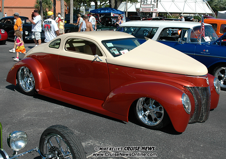 Of the features of this 1940 ford coupe the sleek body is complimented